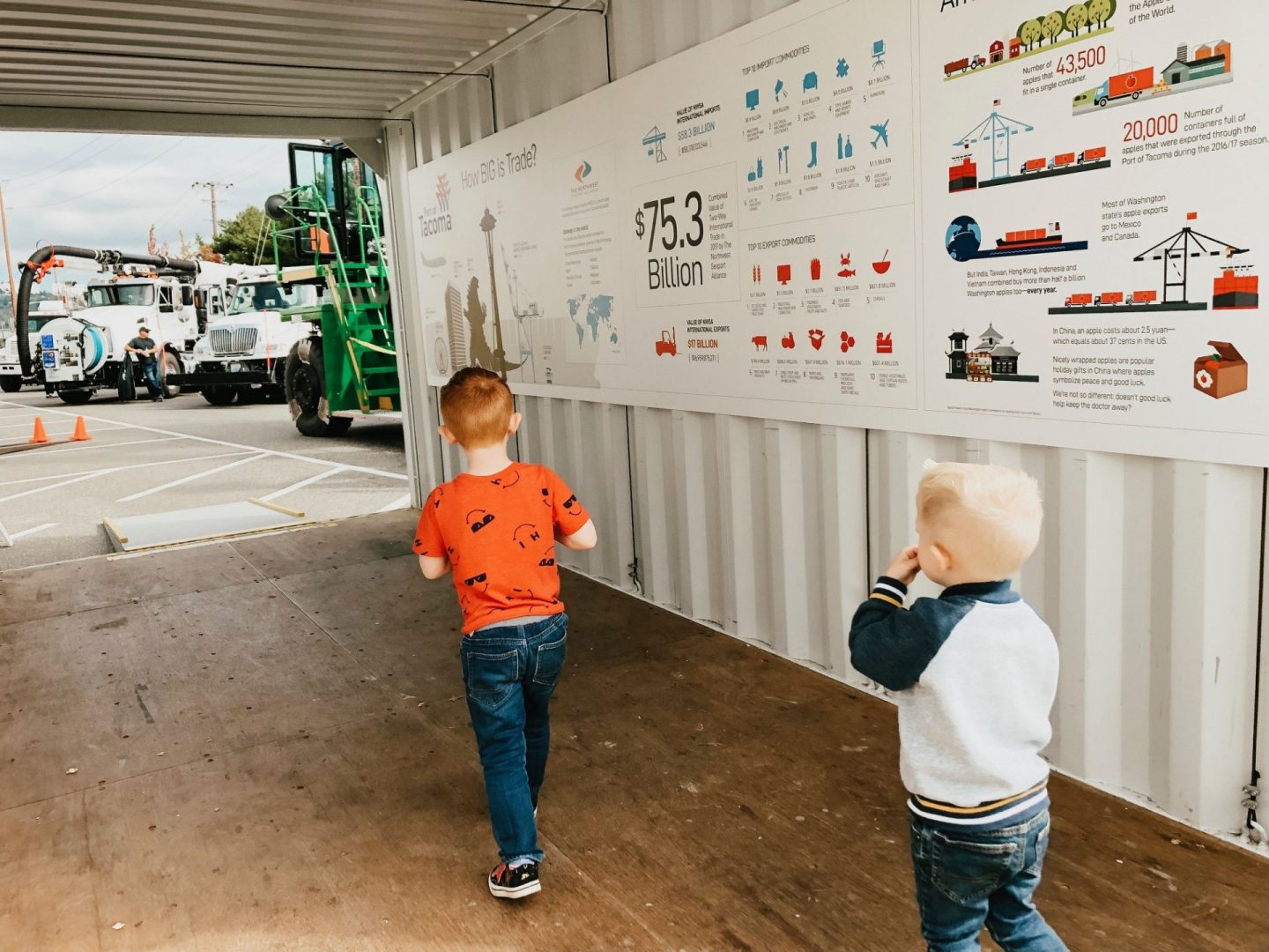 touch-a-truck at the port of tacoma