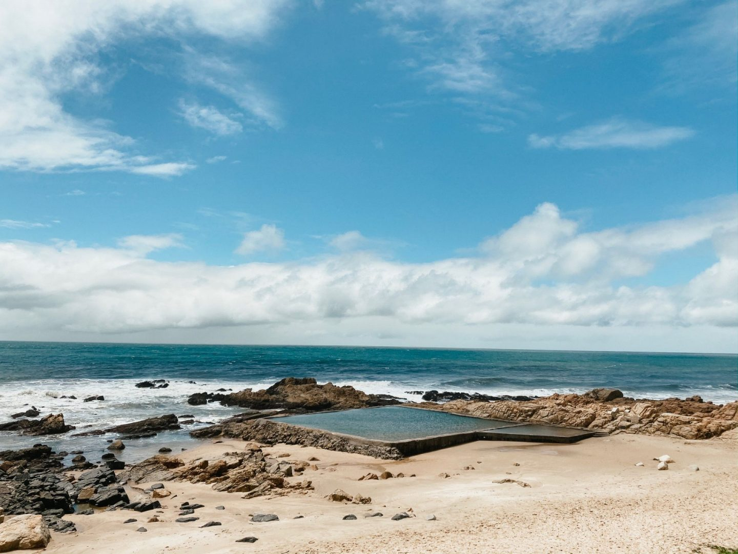 margate tidal pool in kwazulu-natal