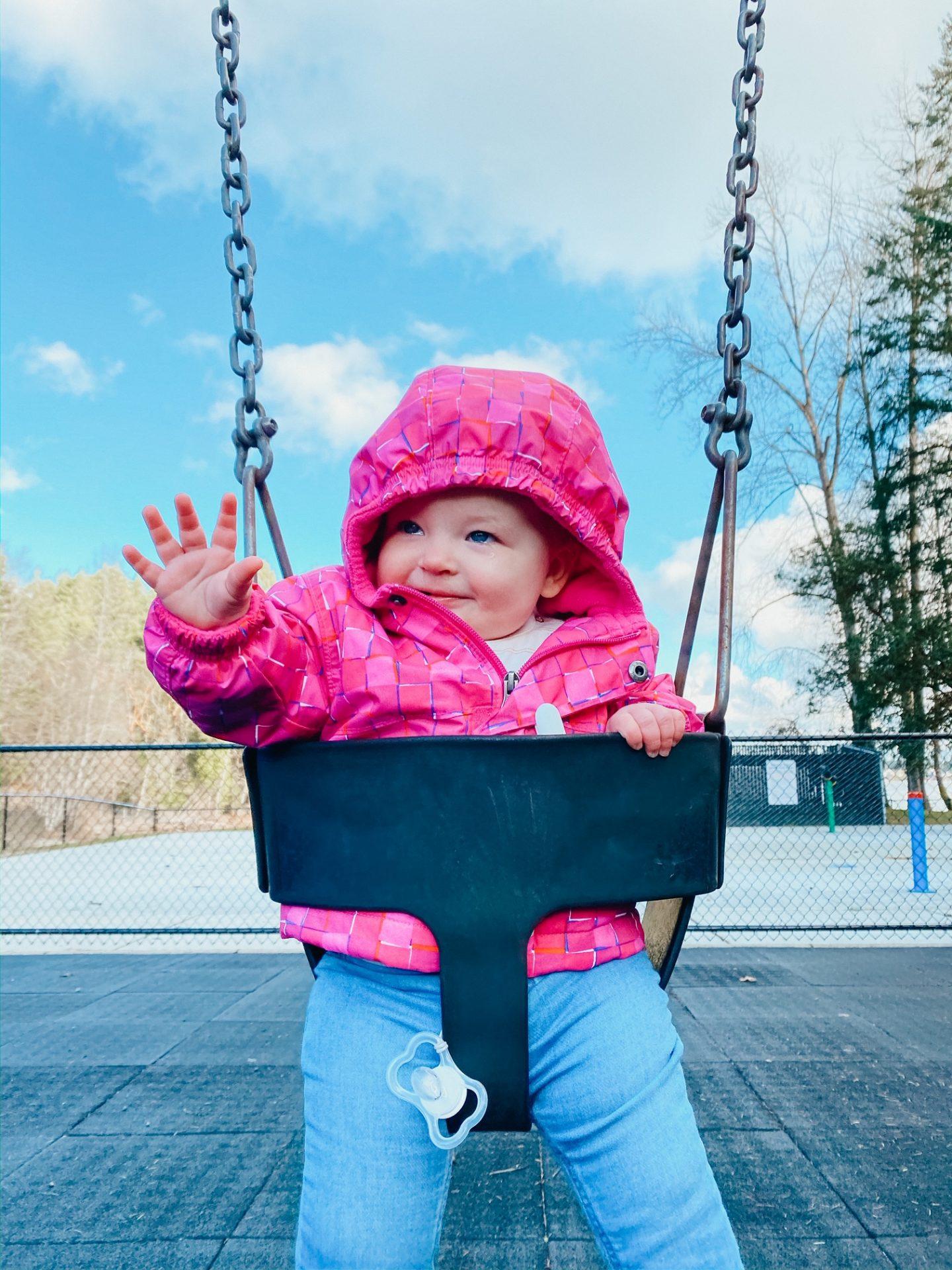 mieke on swings