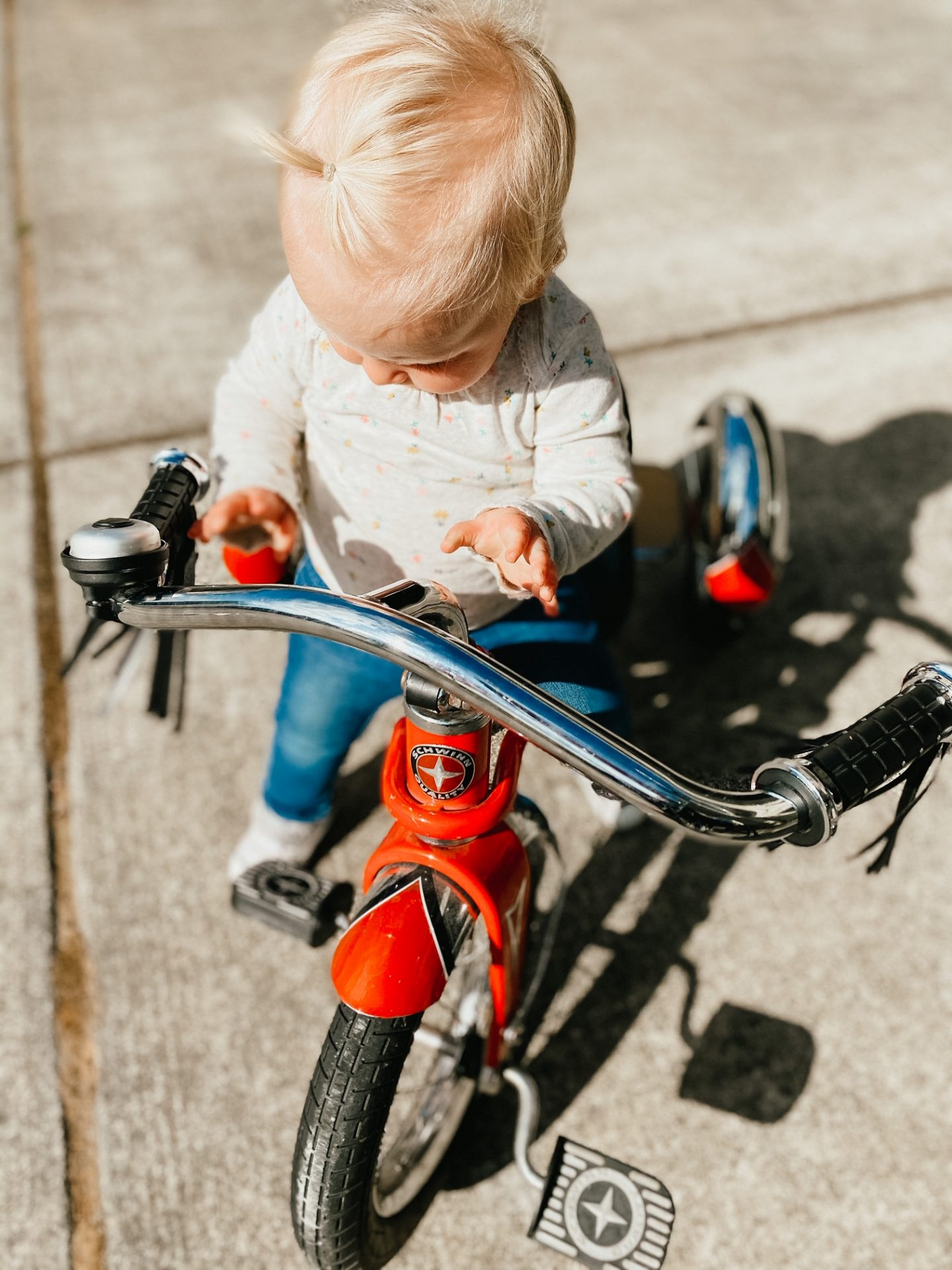 biking girl