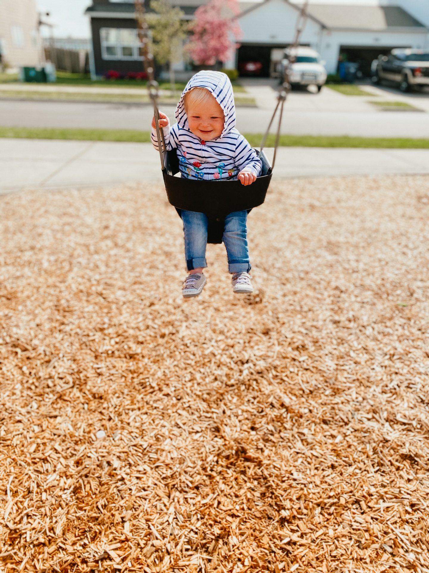 on the swings
