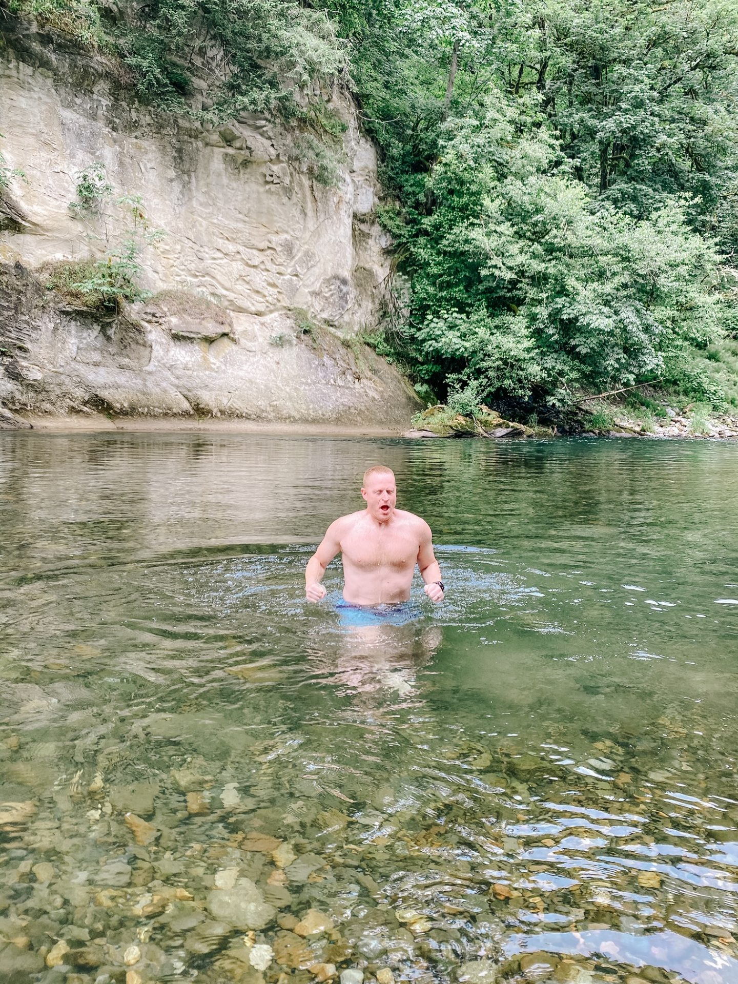 cold water swim