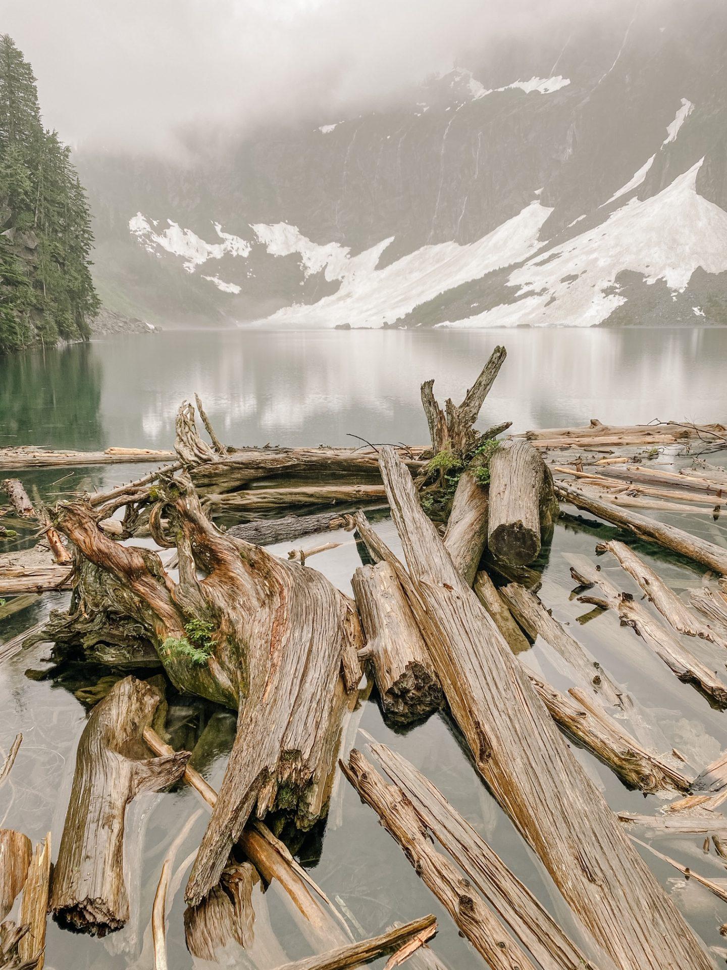 hike around lake serene