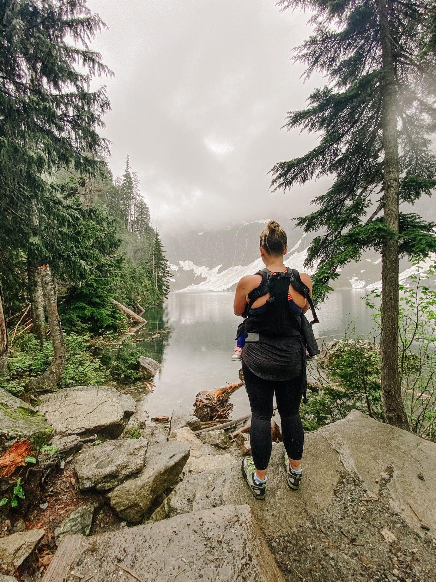 hiking lake serene and bridal veil falls