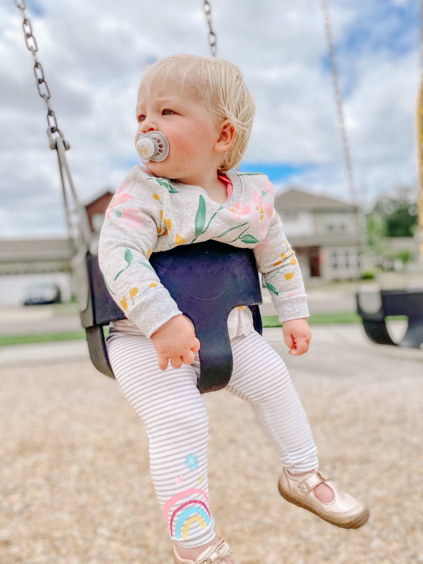 baby girl swings
