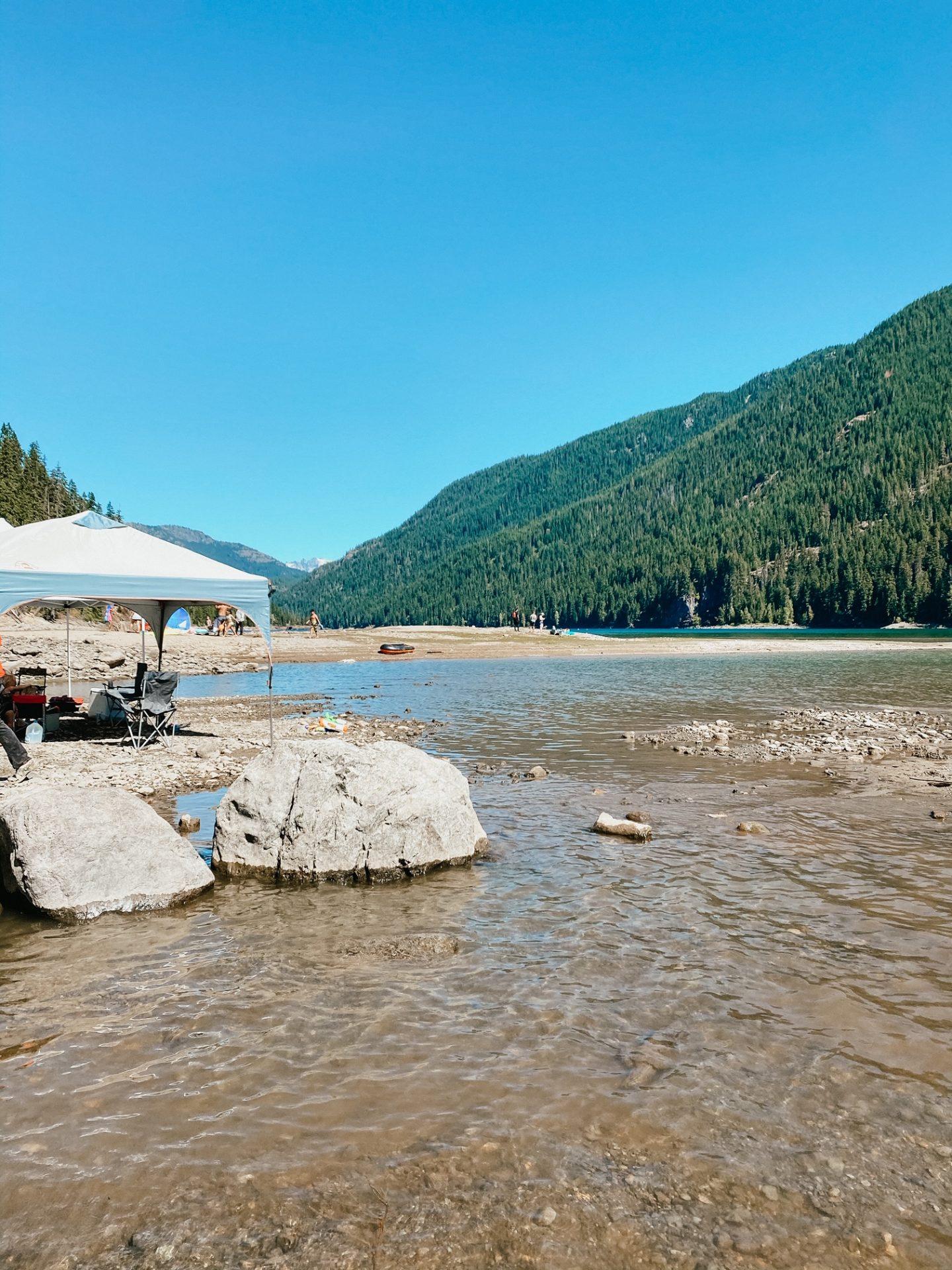 best swimming lakes near jblm