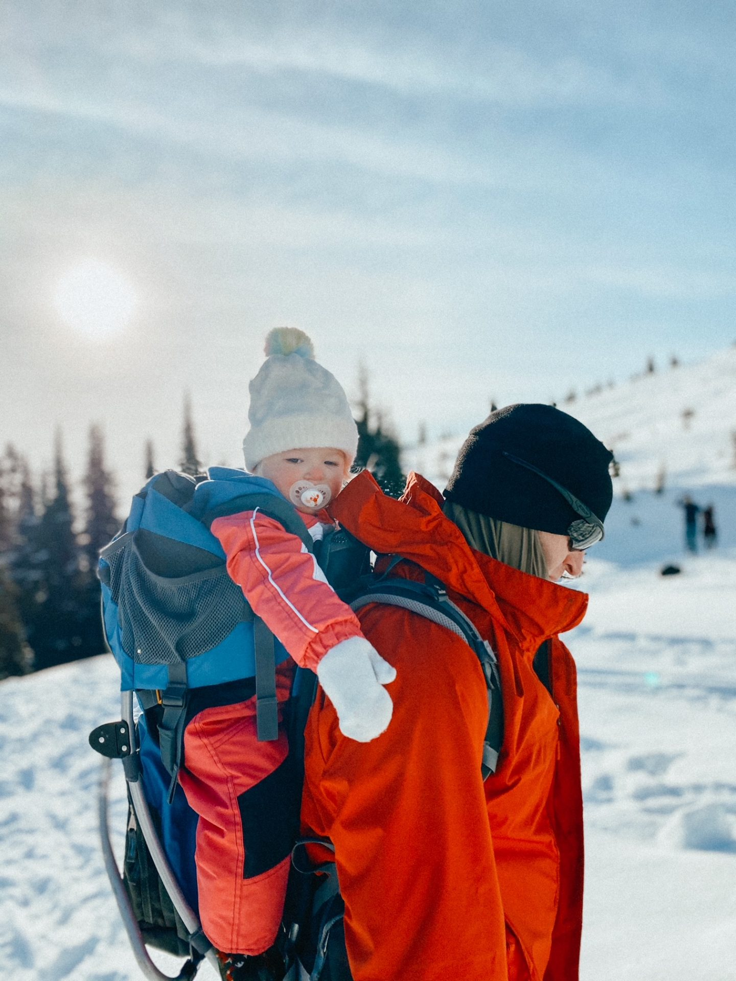 snowshoeing with babies