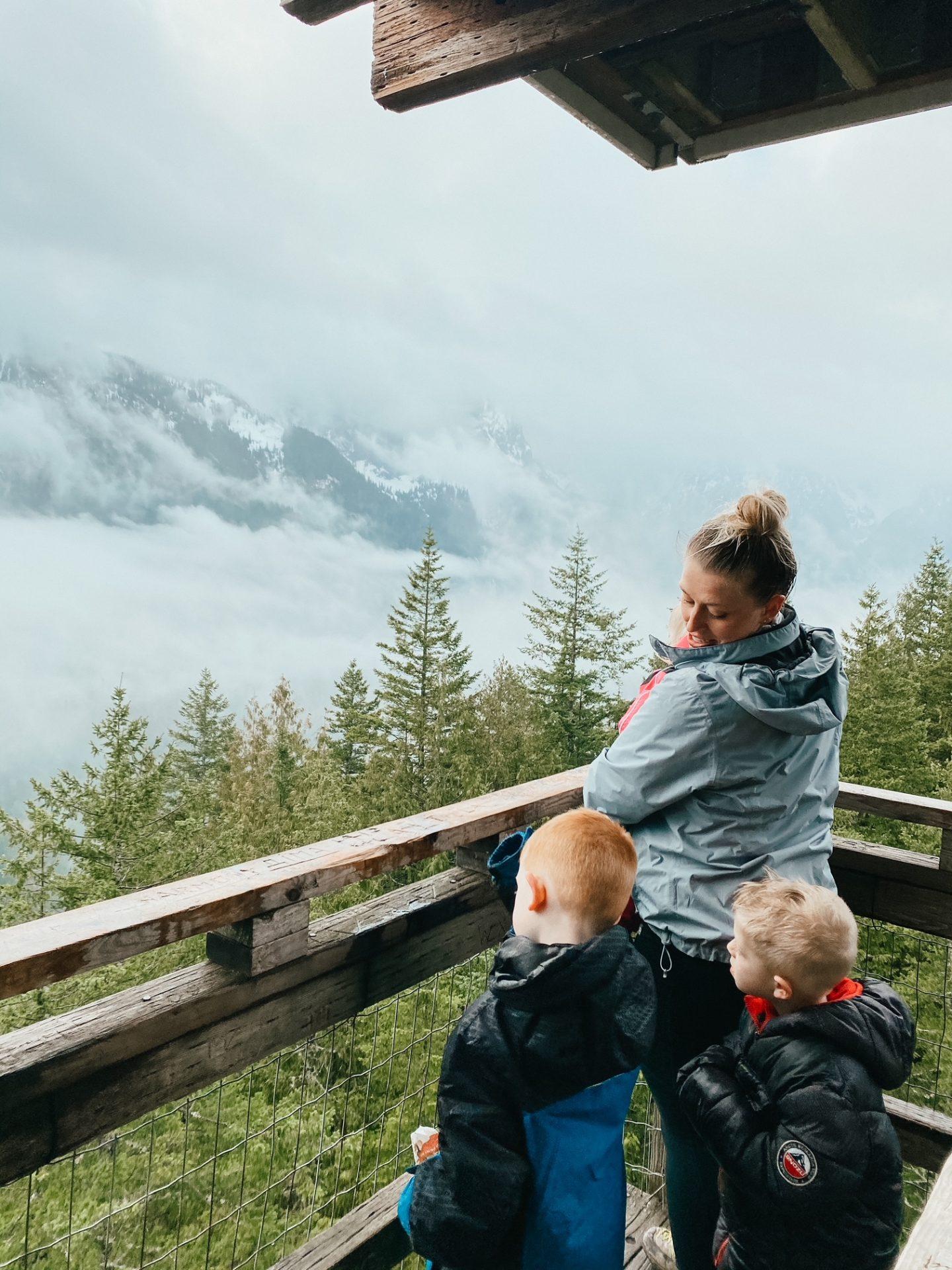 hiking with my kids