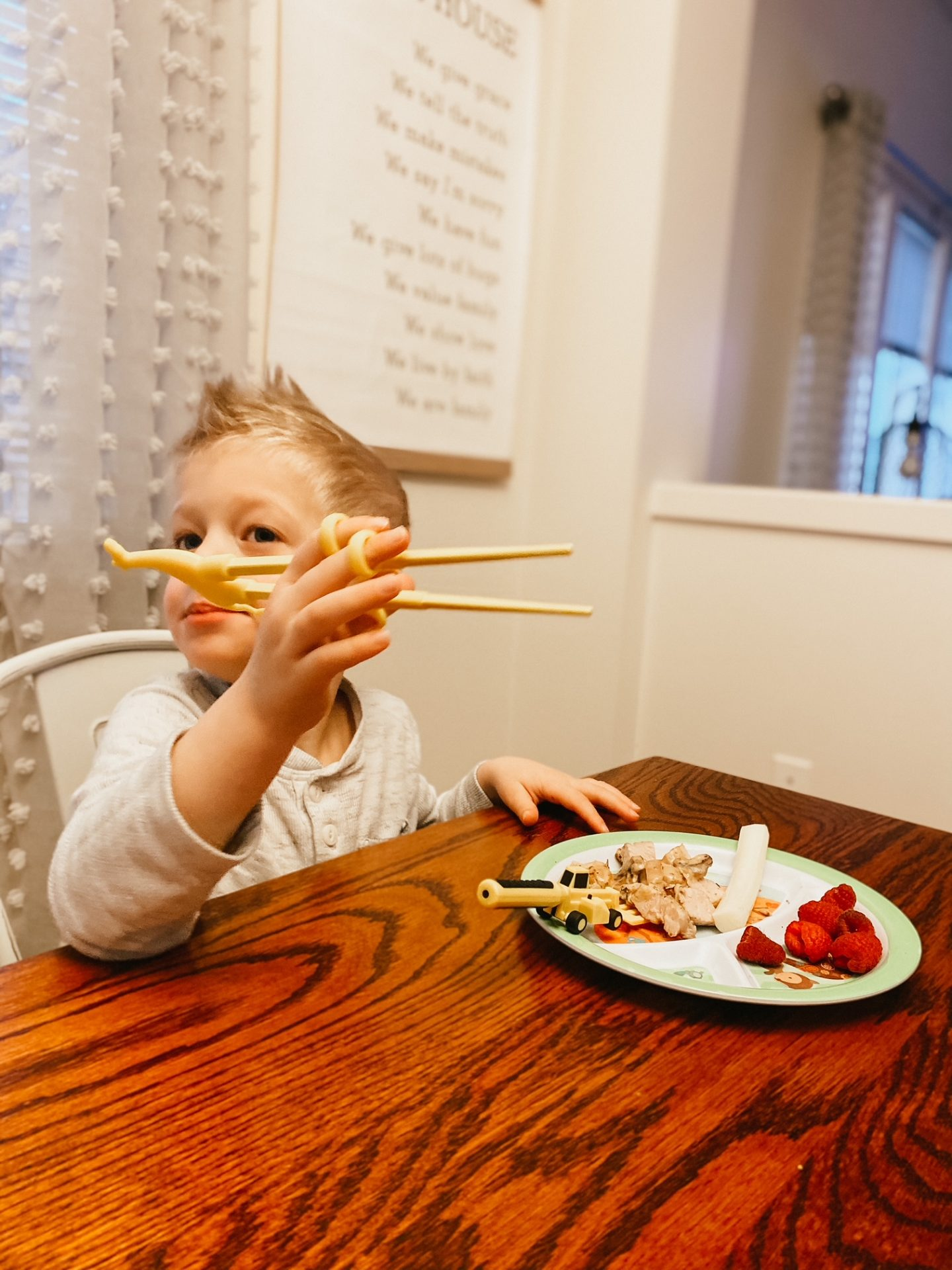 learning chopsticks