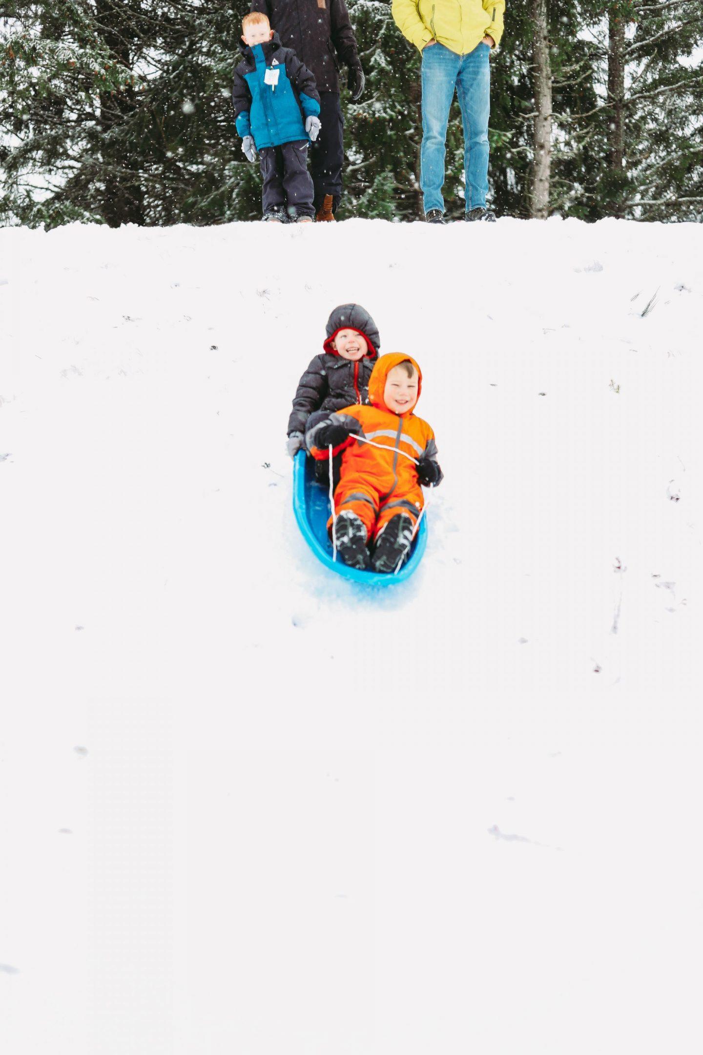 sledding at jblm
