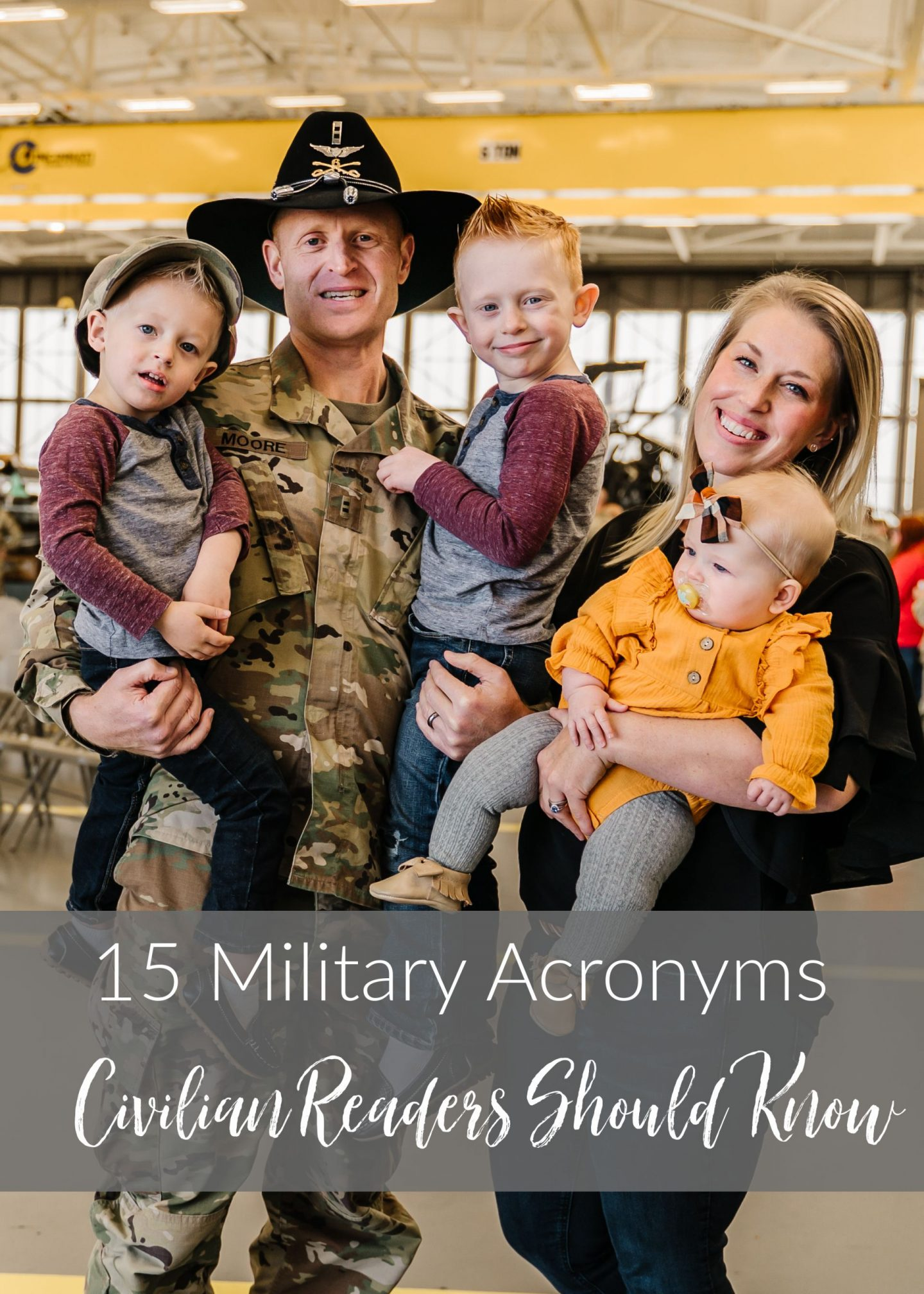 military acronyms non-military readers