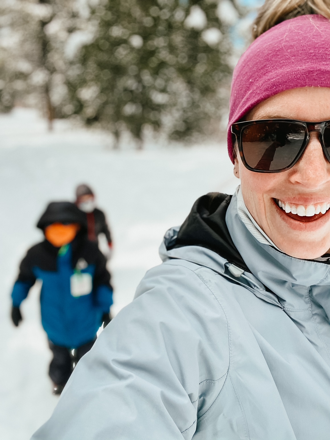snowy hiking