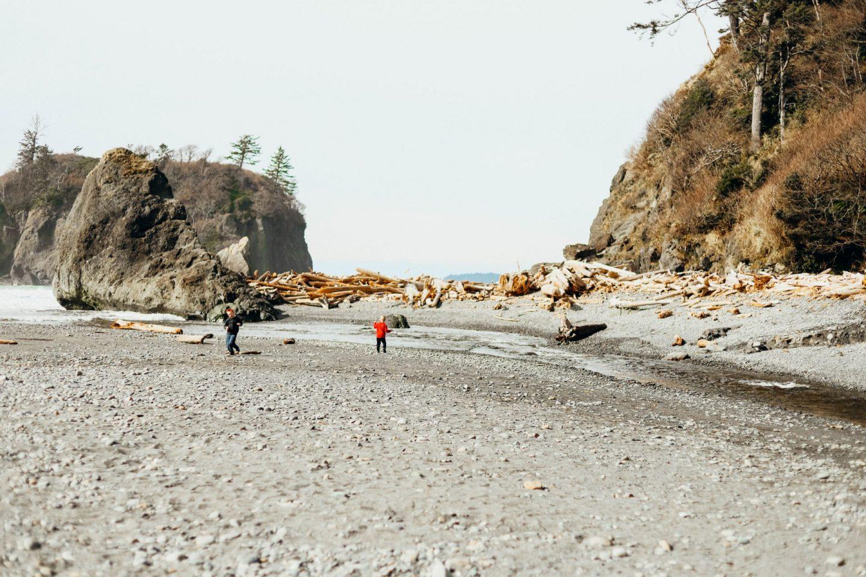 driftwood at ruby beach