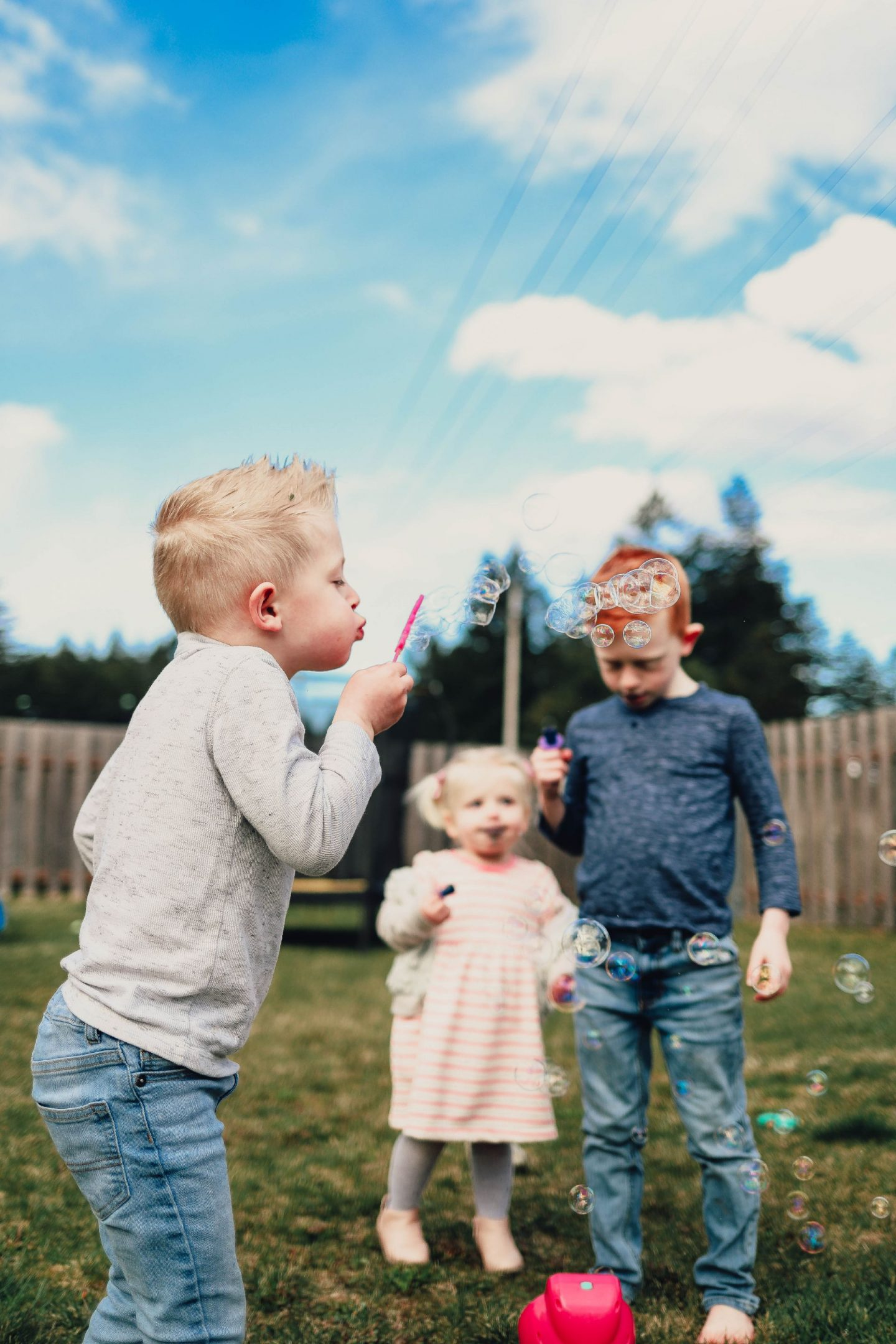 blowing bubbles easter 2021