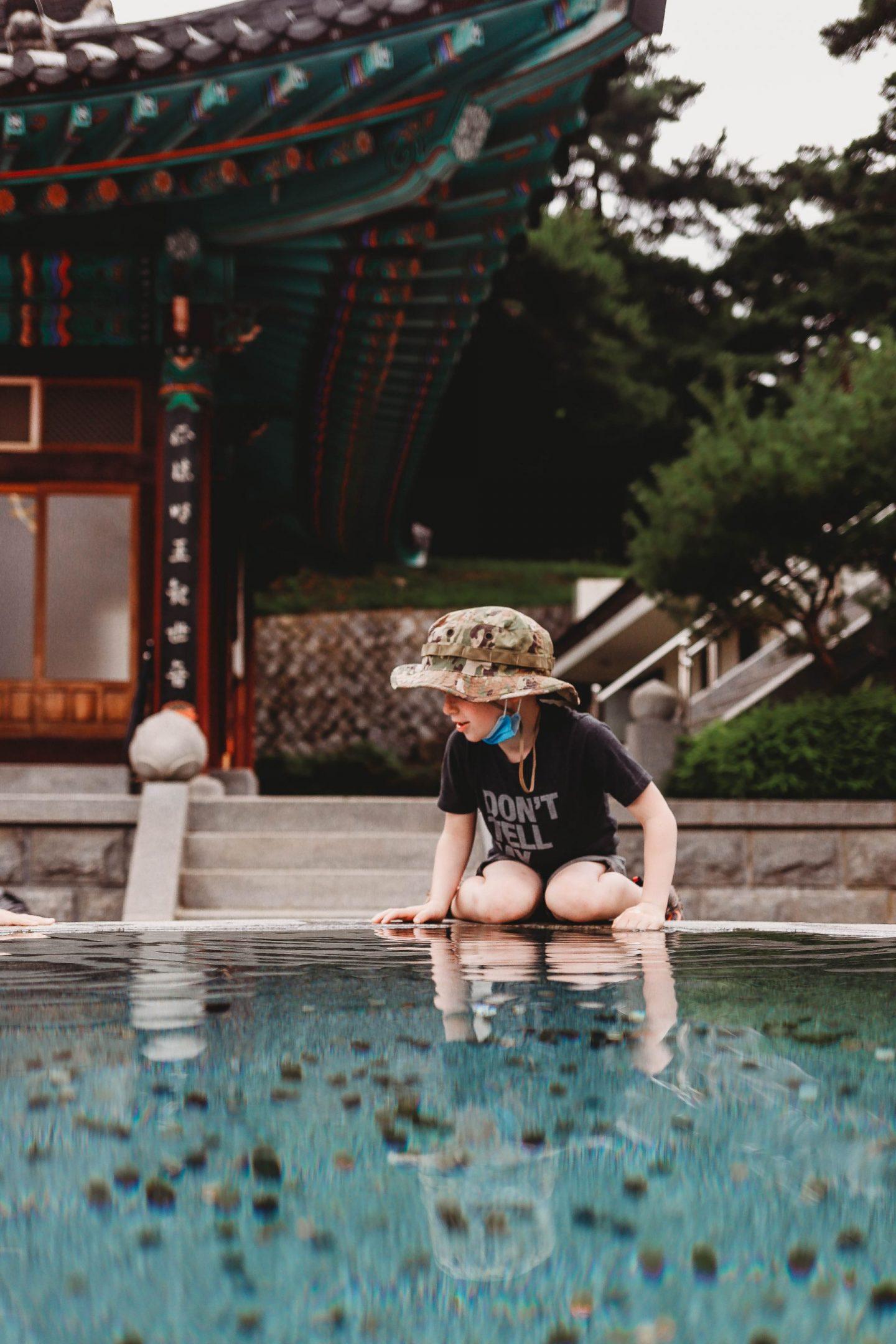 reflection pool gakwonsa temple