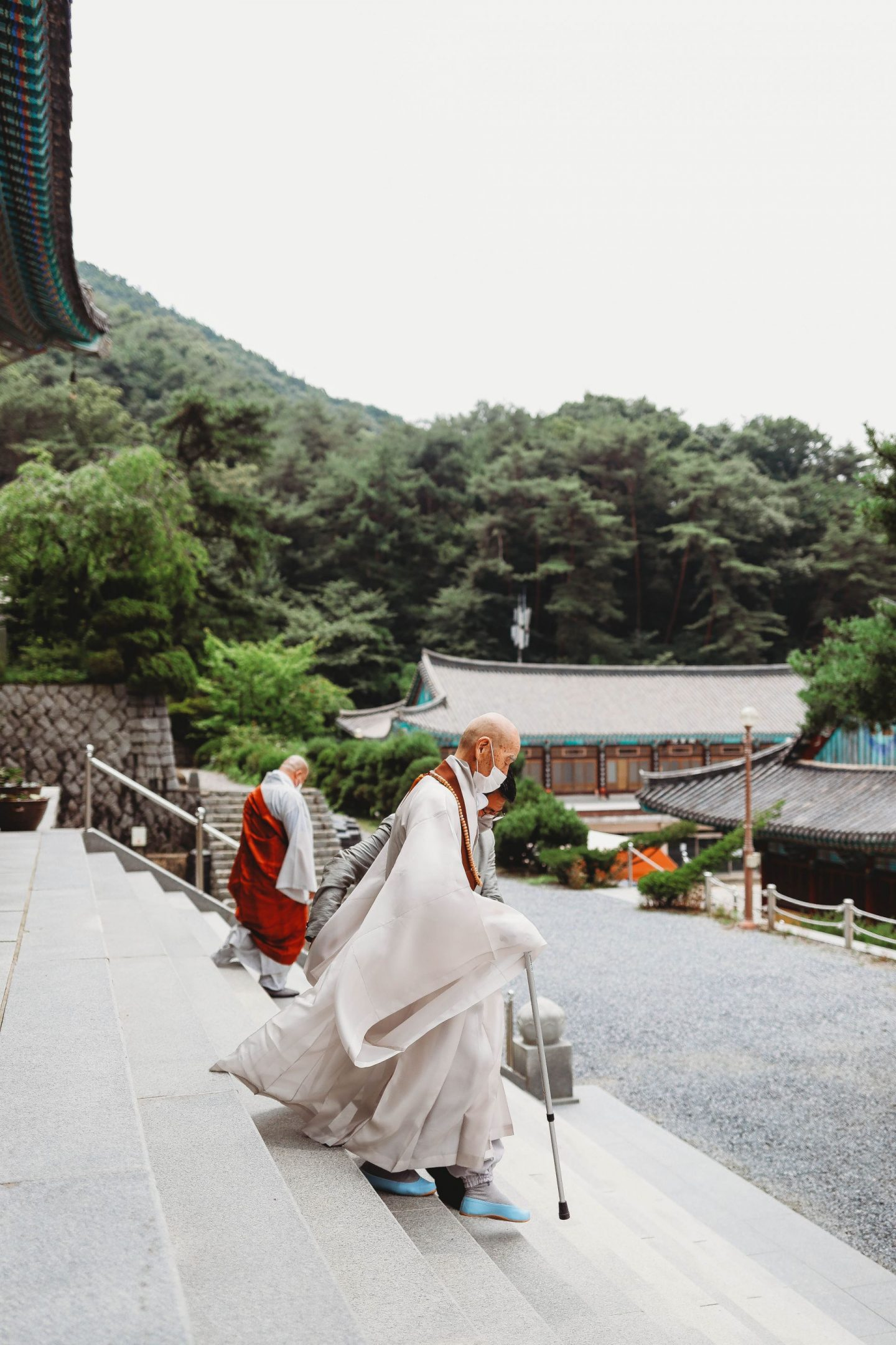 visiting gakwonsa temple in cheonan