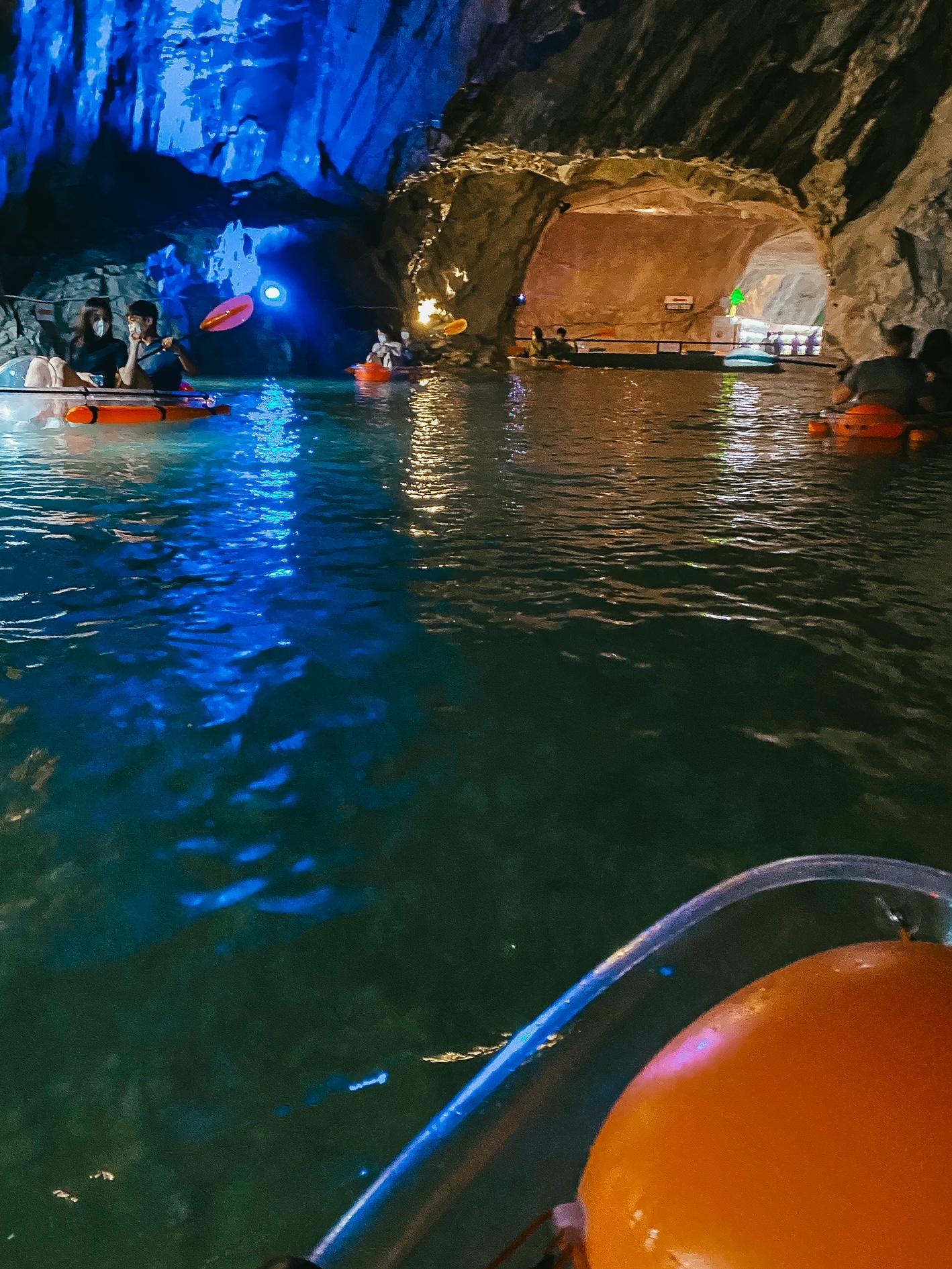 cave kayaking korea
