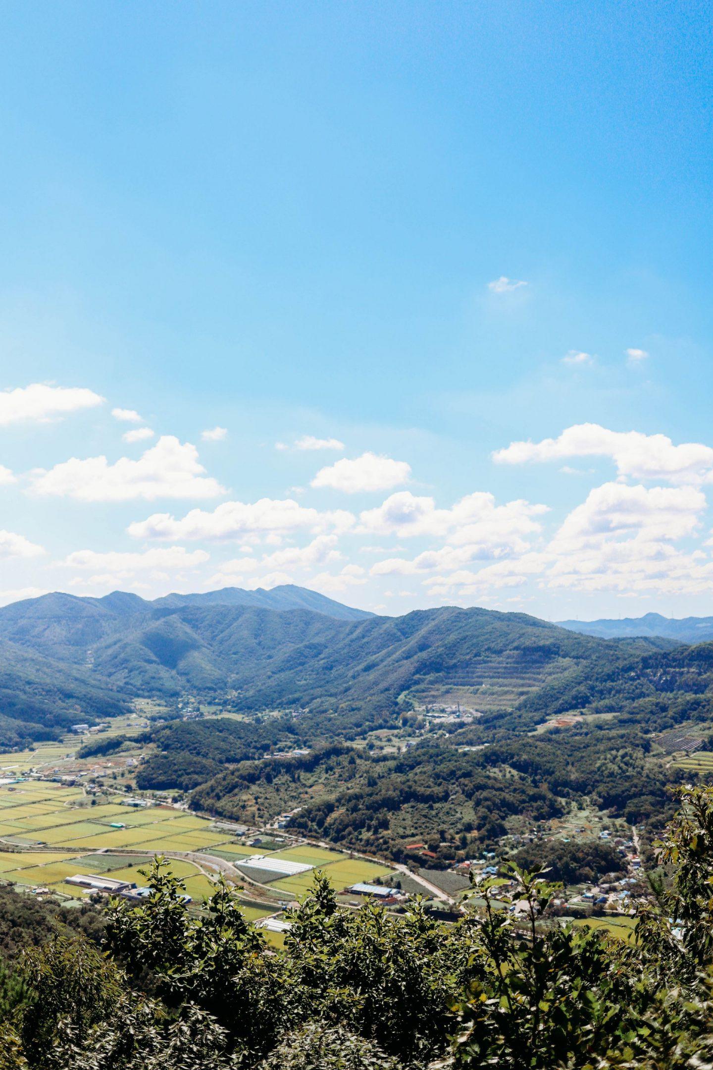 hiking in asan south korea